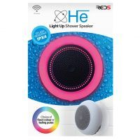 Light up shower speaker in box Red 5